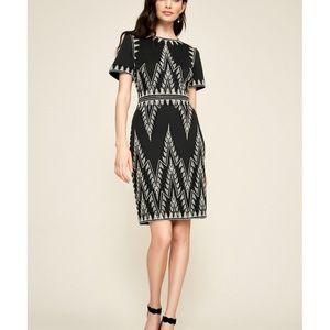 🆕Tadashi Shoji Silver Embroidered Dress